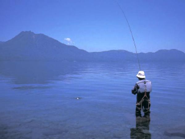 支笏湖フィッシング体験